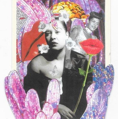 """Billie Holiday"" — a poem (with collage) by Steve Dalachinsky"