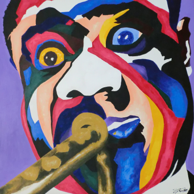 painting of Louis Armstrong by Vakseen