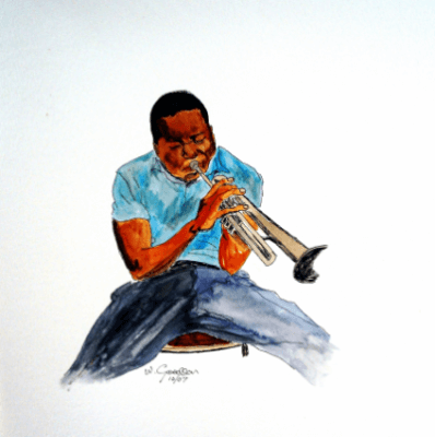 Painting of Clifford Brown by Warren Goodson